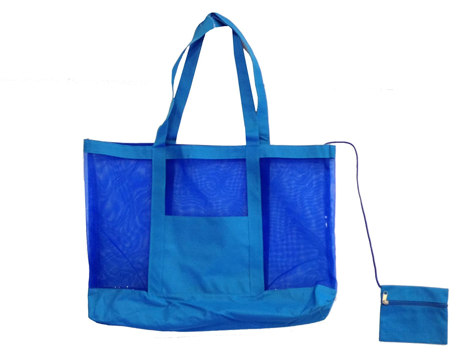 Amazon.com | Getagadget Huge See-Thru Mesh Beach Tote Bag One Size ...